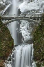 Winter at Multnomah Falls, OR